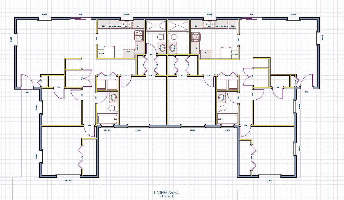 Single Family Duplex House Plans Home Design And Style